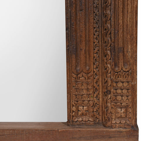 Mirror Made From 19thC Indian Door Frame