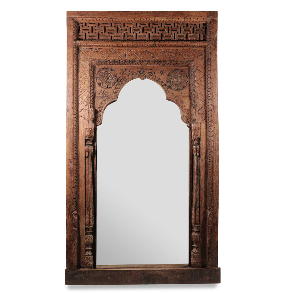 Mirror Made From An Old Indian Window - 19thC