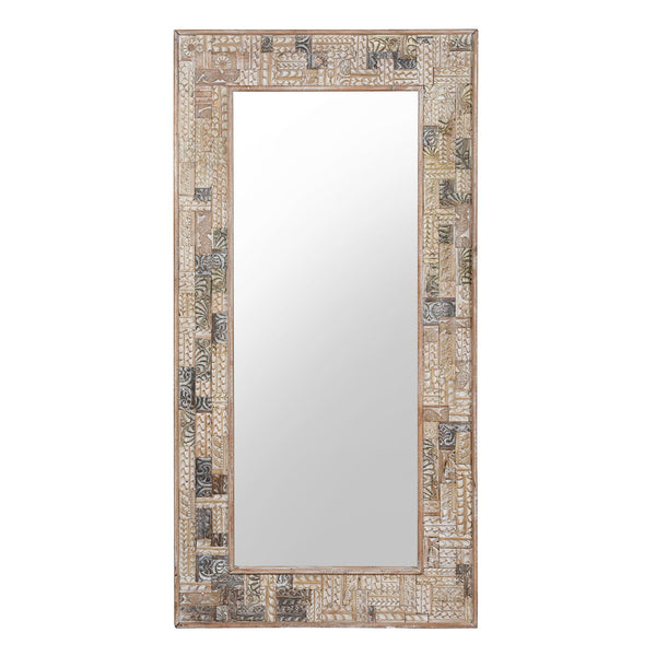 Painted Mirror Made From Reclaimed Teak Wood