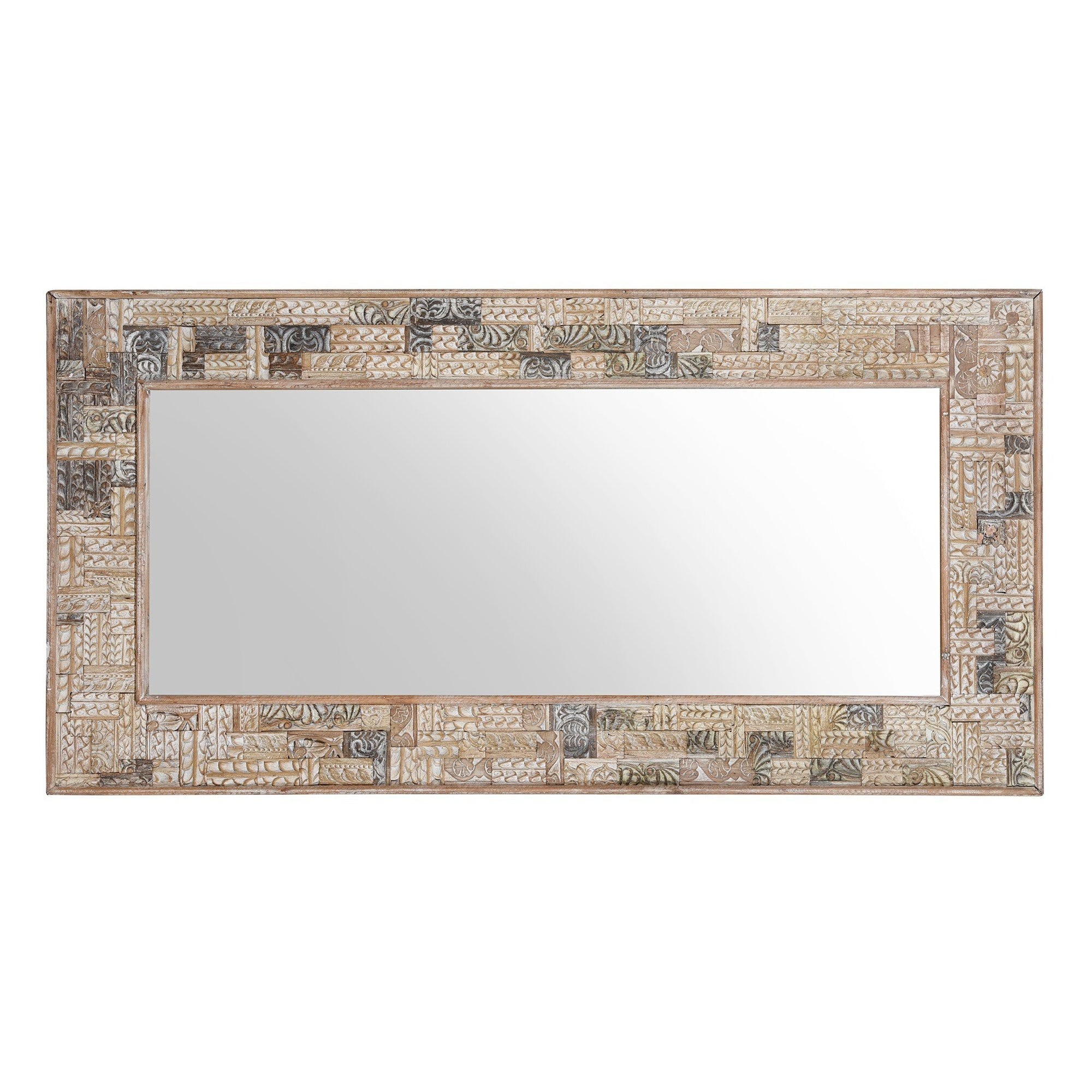 Mirror Made From Reclaimed Teak Panels | Indigo Antiques