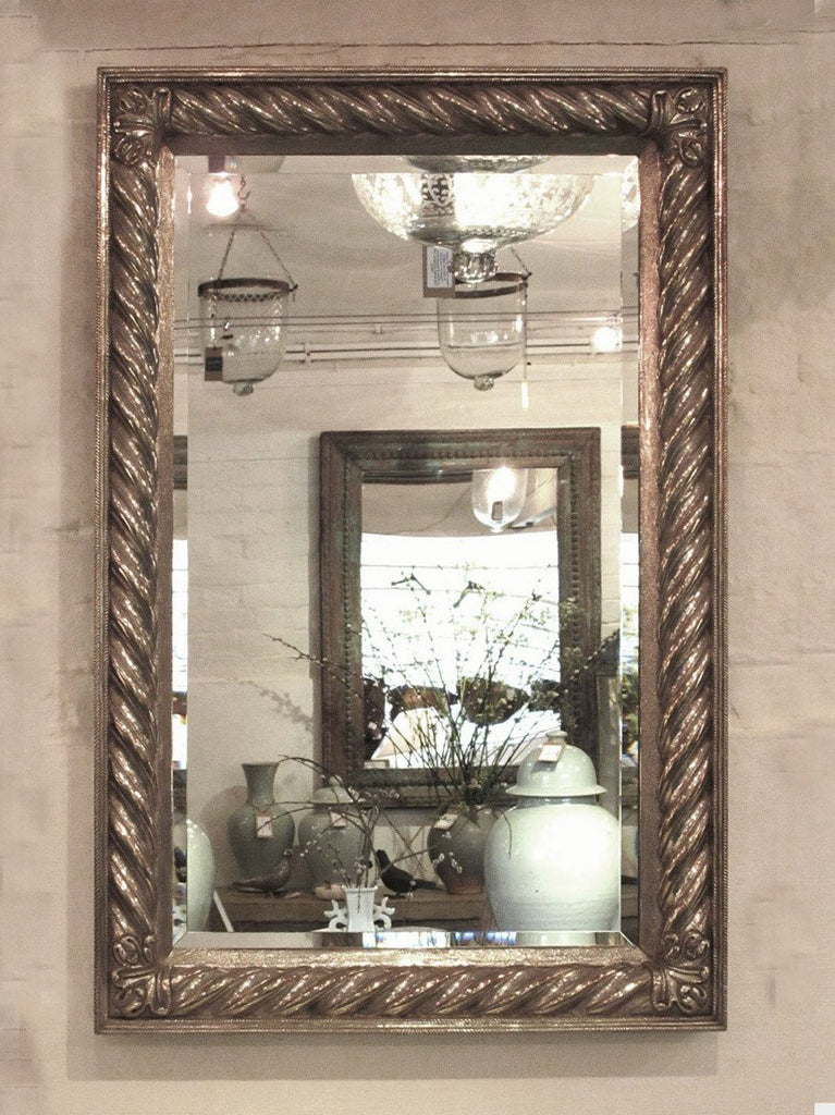 Regency Style Sterling Silver Covered Mirror from Udaipur