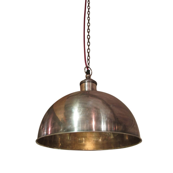 Pendant Light - Antique Silver Plated Brass