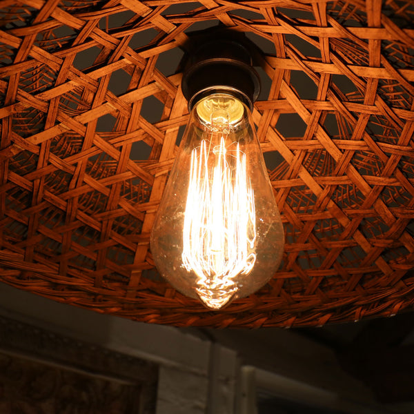 Vintage Rice Paddy Hat Pendant Light