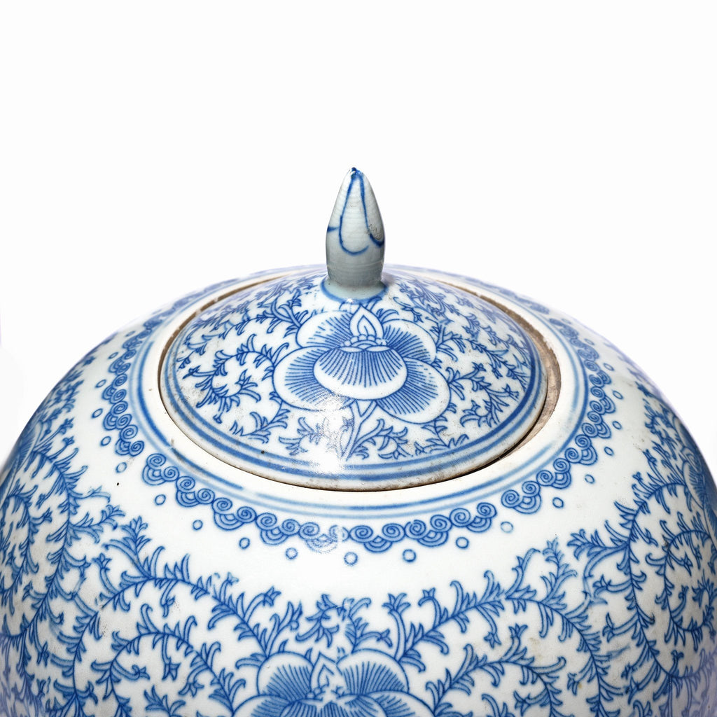 Blue & White Porcelain Rice Jar - Double Happiness Design
