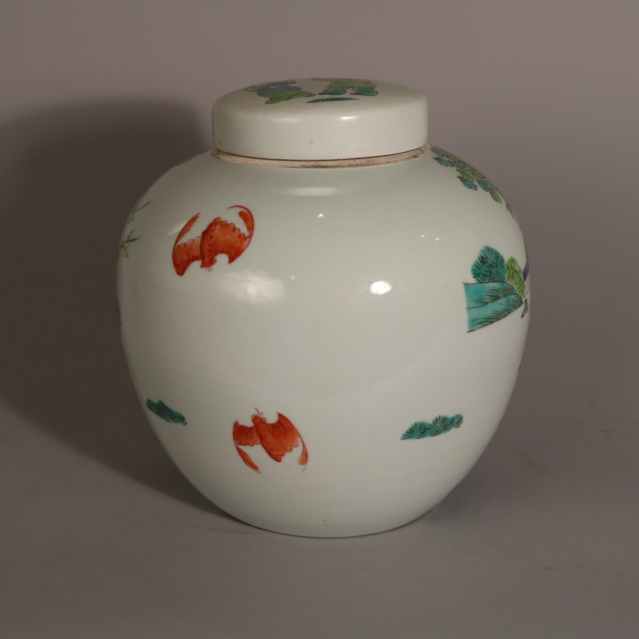 Chinese Ginger Jar With Wucai Glaze | Indigo Oriental Antiques