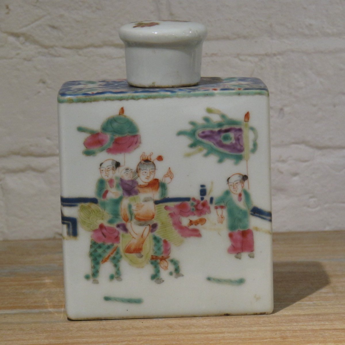 Porcelain Tea Caddy With Famille Rose Glaze | Indigo Oriental Antiques