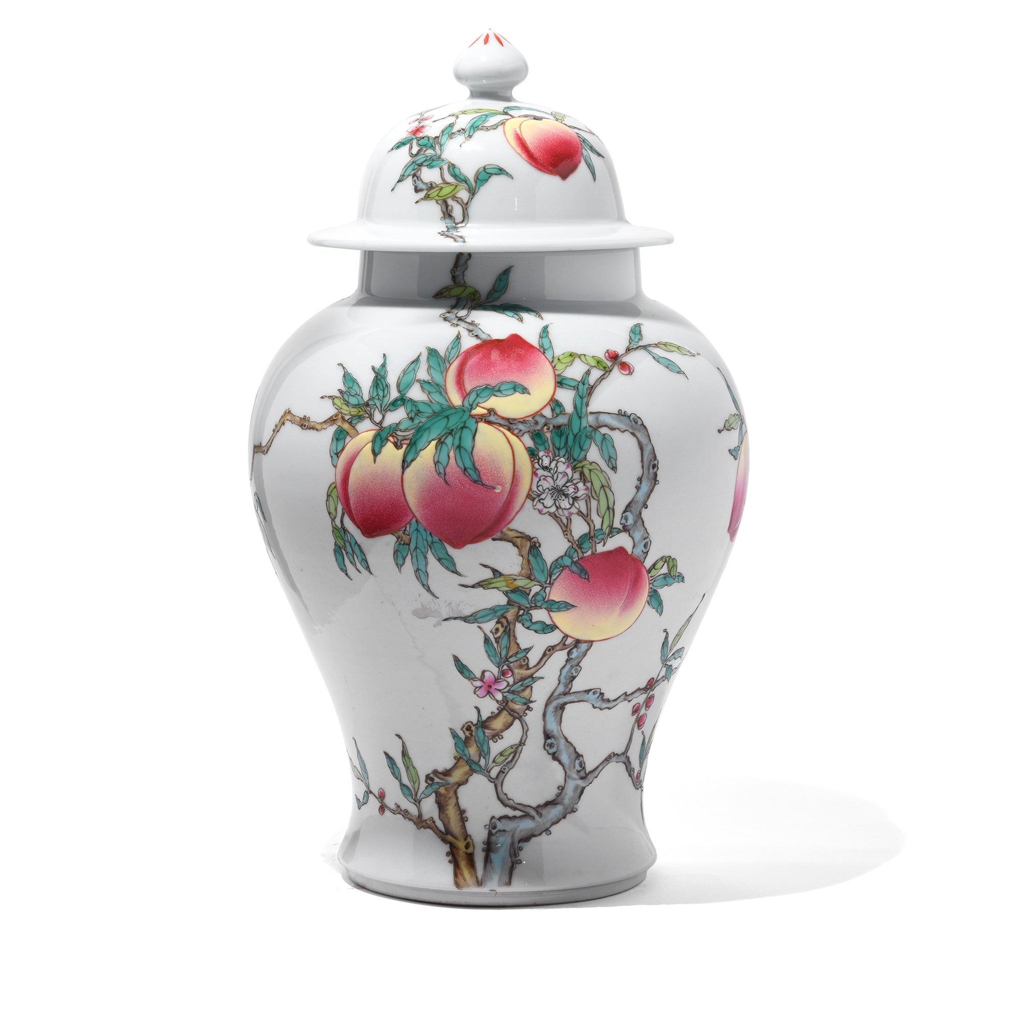 Chinese reproduction Porcelain Temple Jar - Nine Peach Design