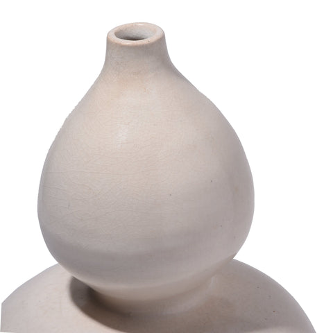 Song Dynasty White Porcelain Gourd Vase