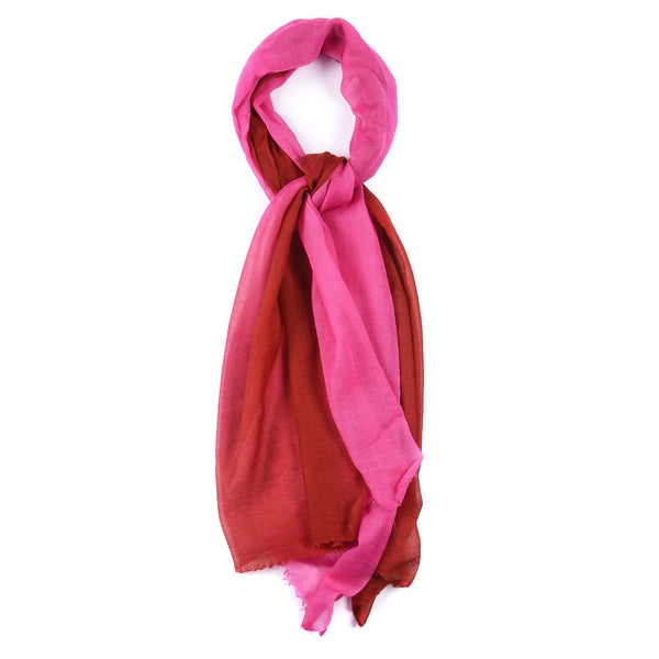 Graduated Colours - Fine Wool Scarf