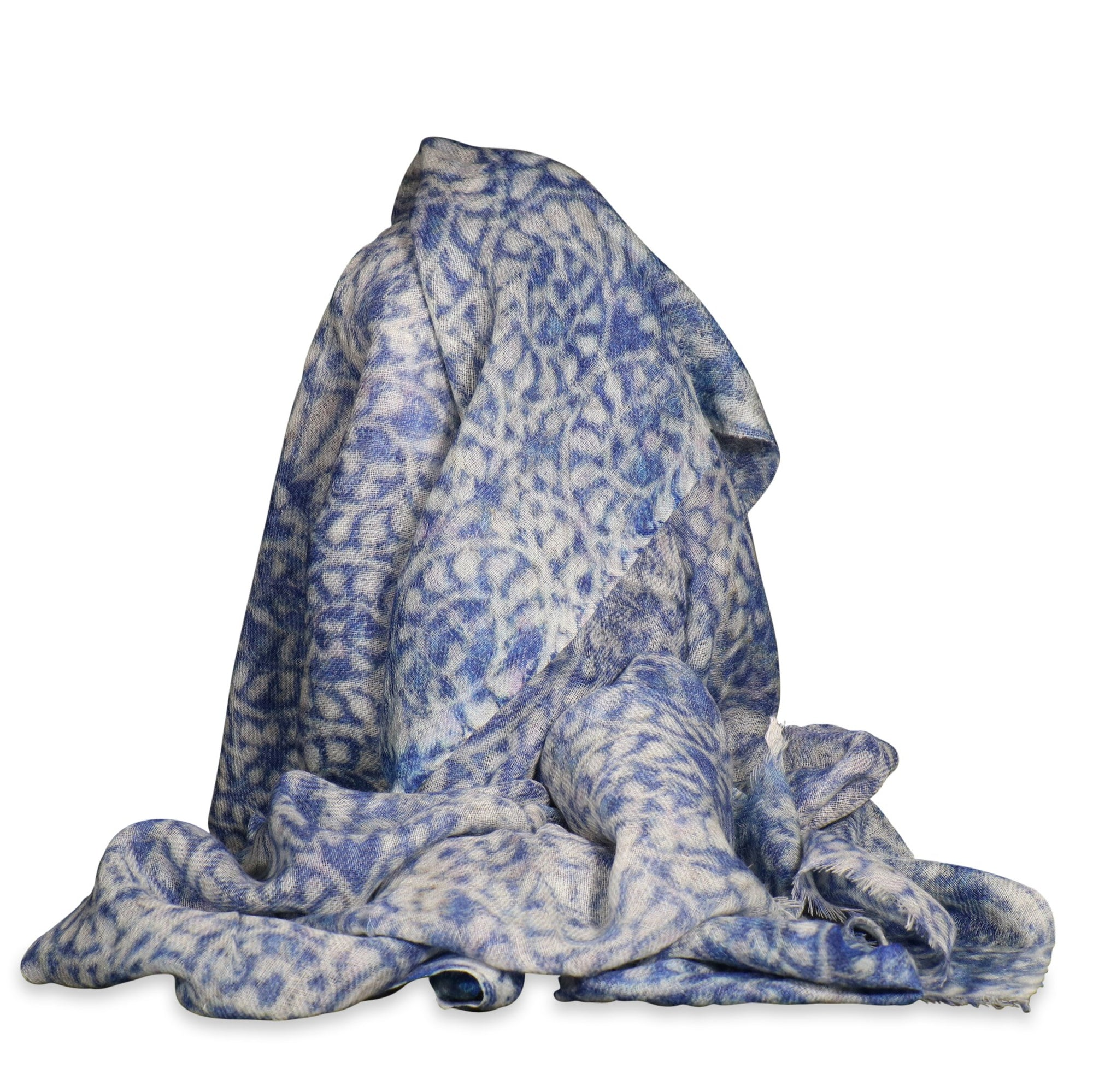 Soft Printed Wool Scarf | Indigo Oriental Antiques
