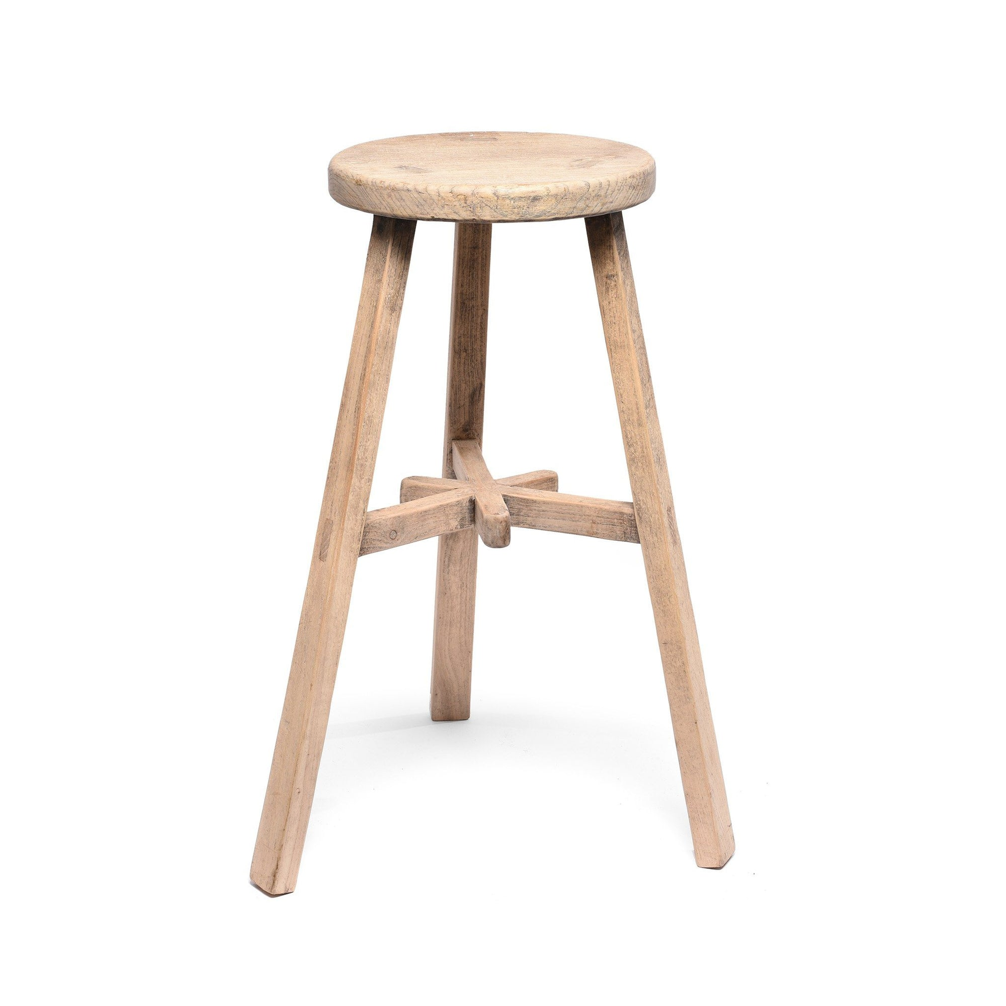 Bar Stool -  Made From Old Elm - 33 x 33 x 73 (wxdxh cms) - C1257V1