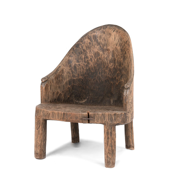 Carved Tribal Chair From Nagaland -  Ca 1920