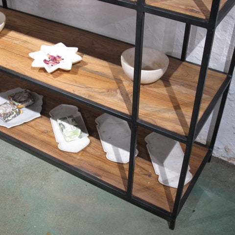 Industrial Style Room Divider Shelving