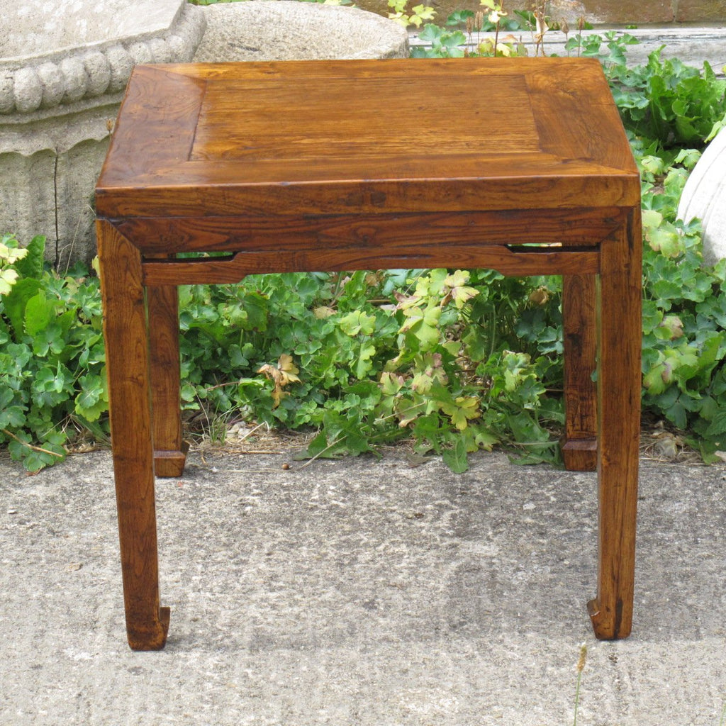 Elm Side Table  - Ca 100 Yrs Old