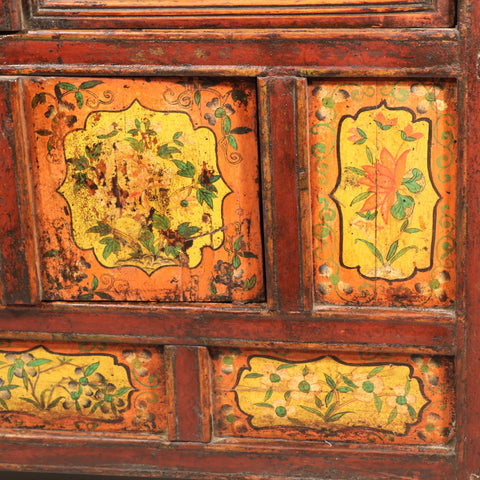 Altar Cabinet From Tibet with Original Painting - 19thC