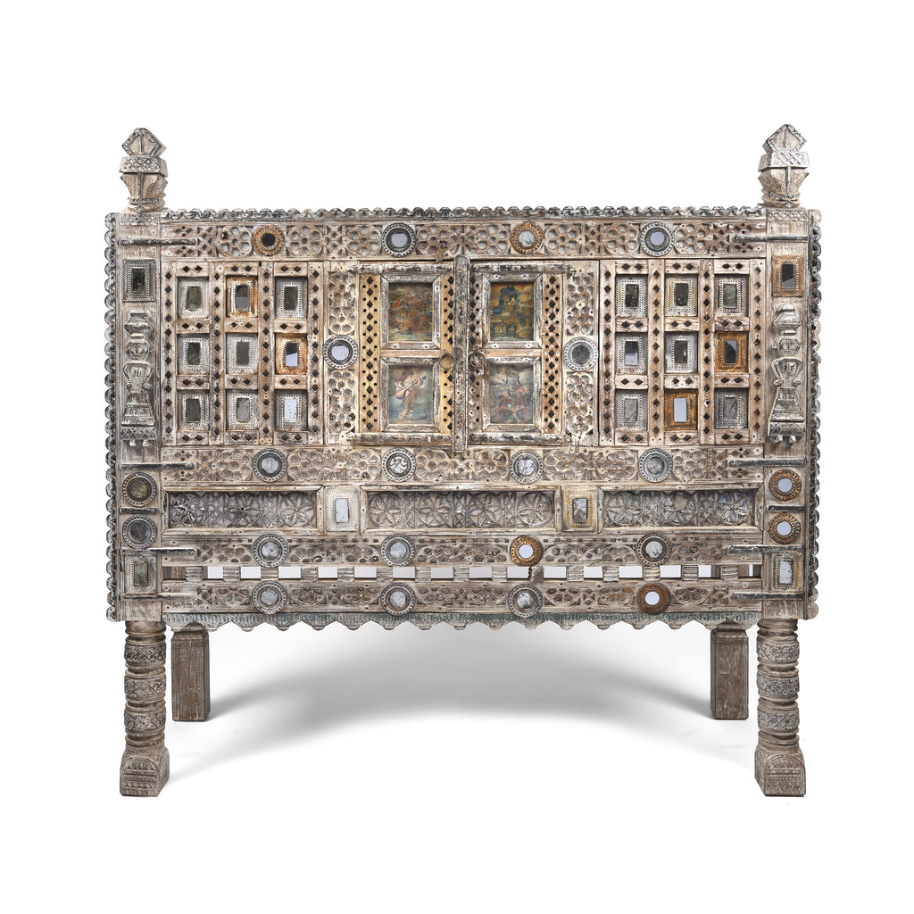 Carved Teak Damchiya Chest From Kutch - Ca 1920