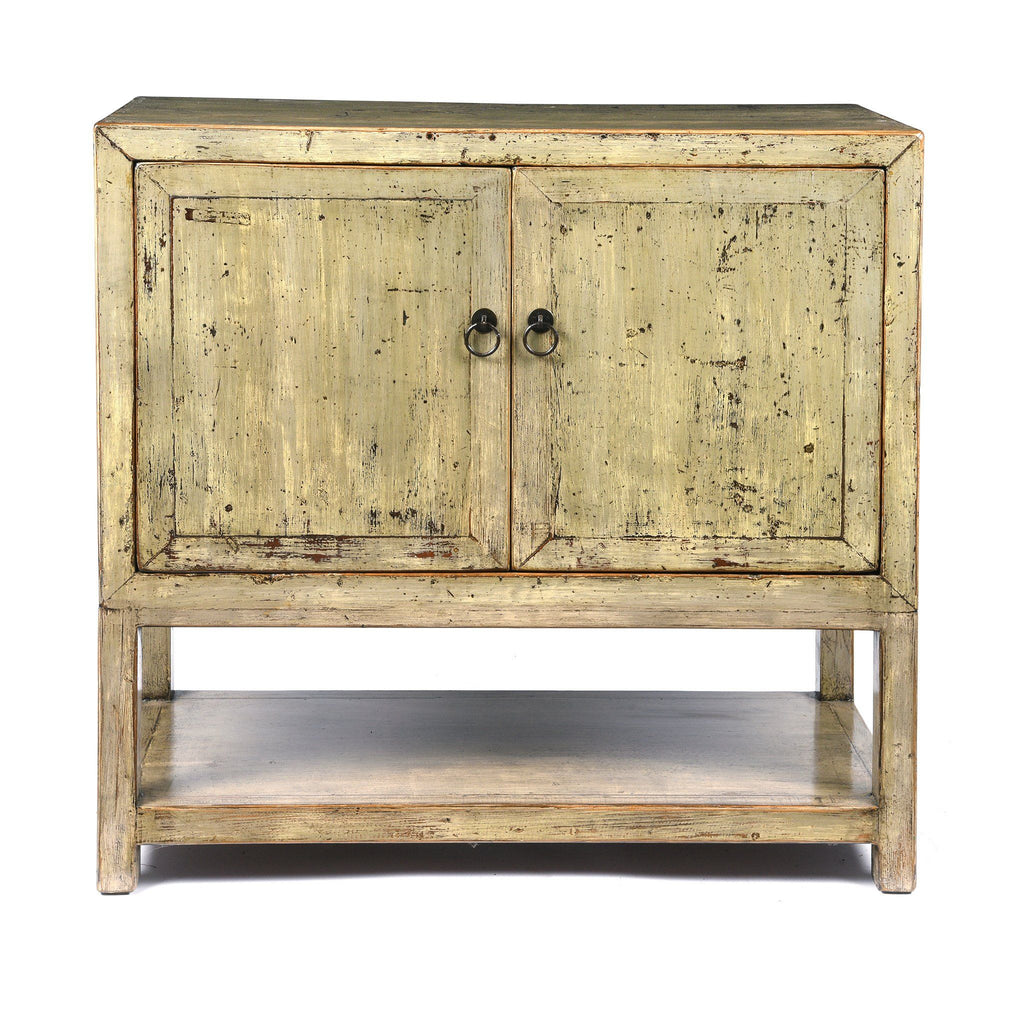 Grey Lacquer Side Cabinet Made From Reclaimed Pine