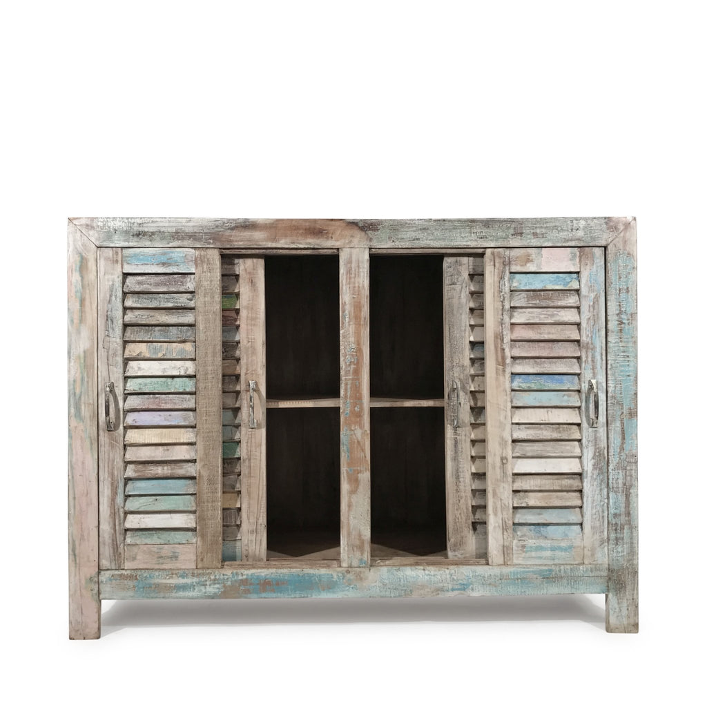 Louvre Door Sideboard Made From Reclaimed Teak