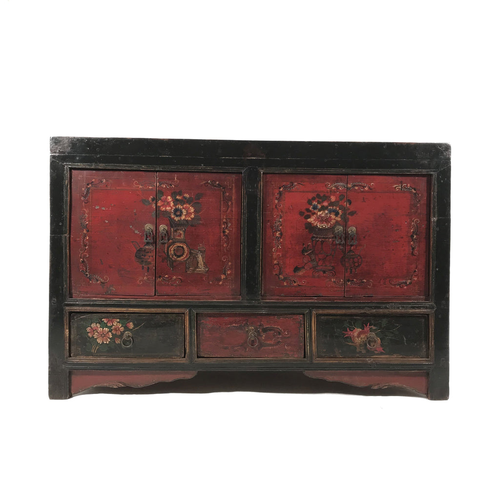 Painted 4 Door Sideboard From Mongolia - 19thC