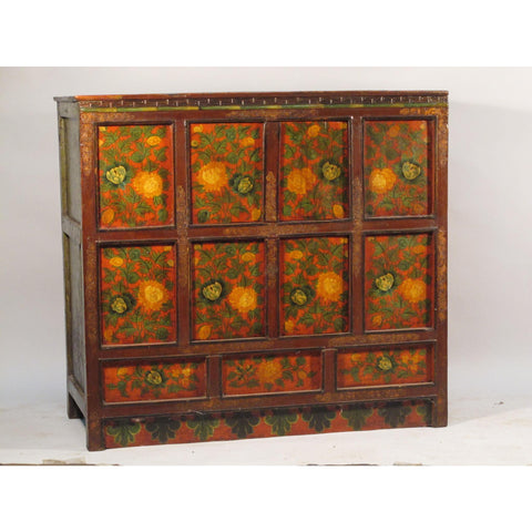 Tibetan Altar Cabinet With Original Painting - circa 1920