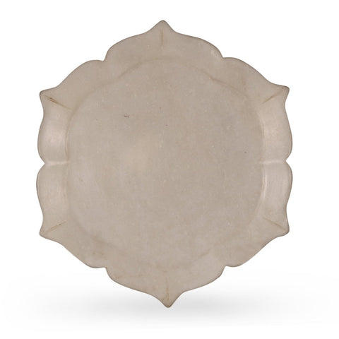 Carved Marble Plate From Rajasthan
