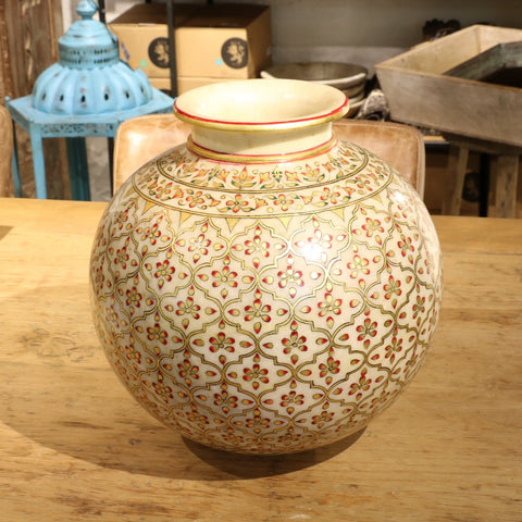Marble Lota - Hand Painted Chandras Work