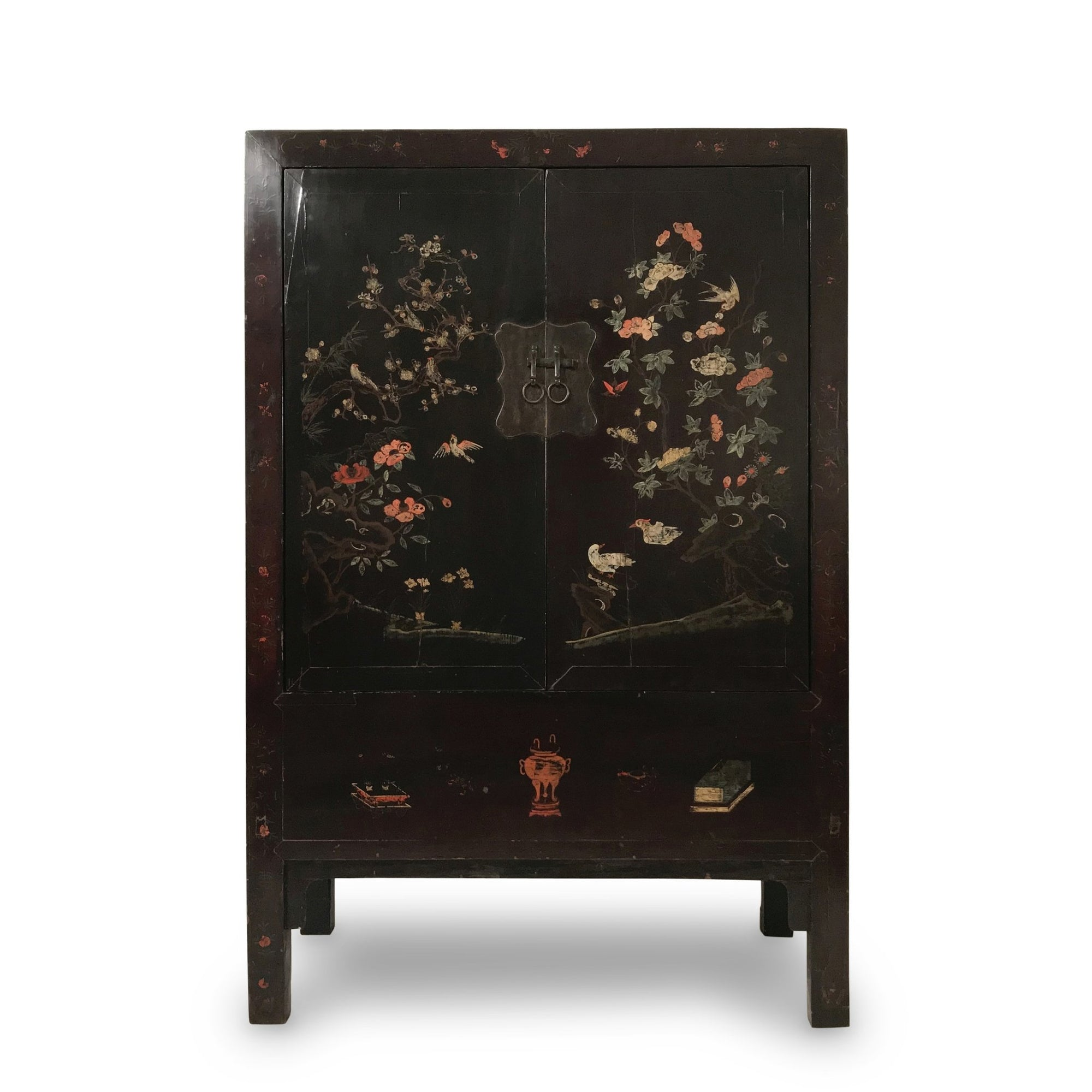 Antique Black Lacquer Wedding Cabinet from Shanxi  - 19thC | Indigo Oriental Antiques