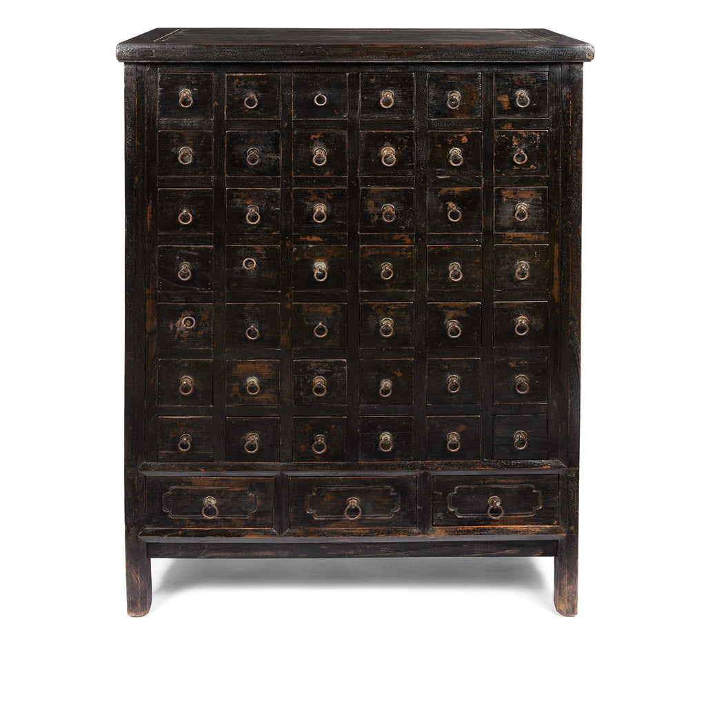 Black Painted Apothecary Chest From Shanxi - 19thC