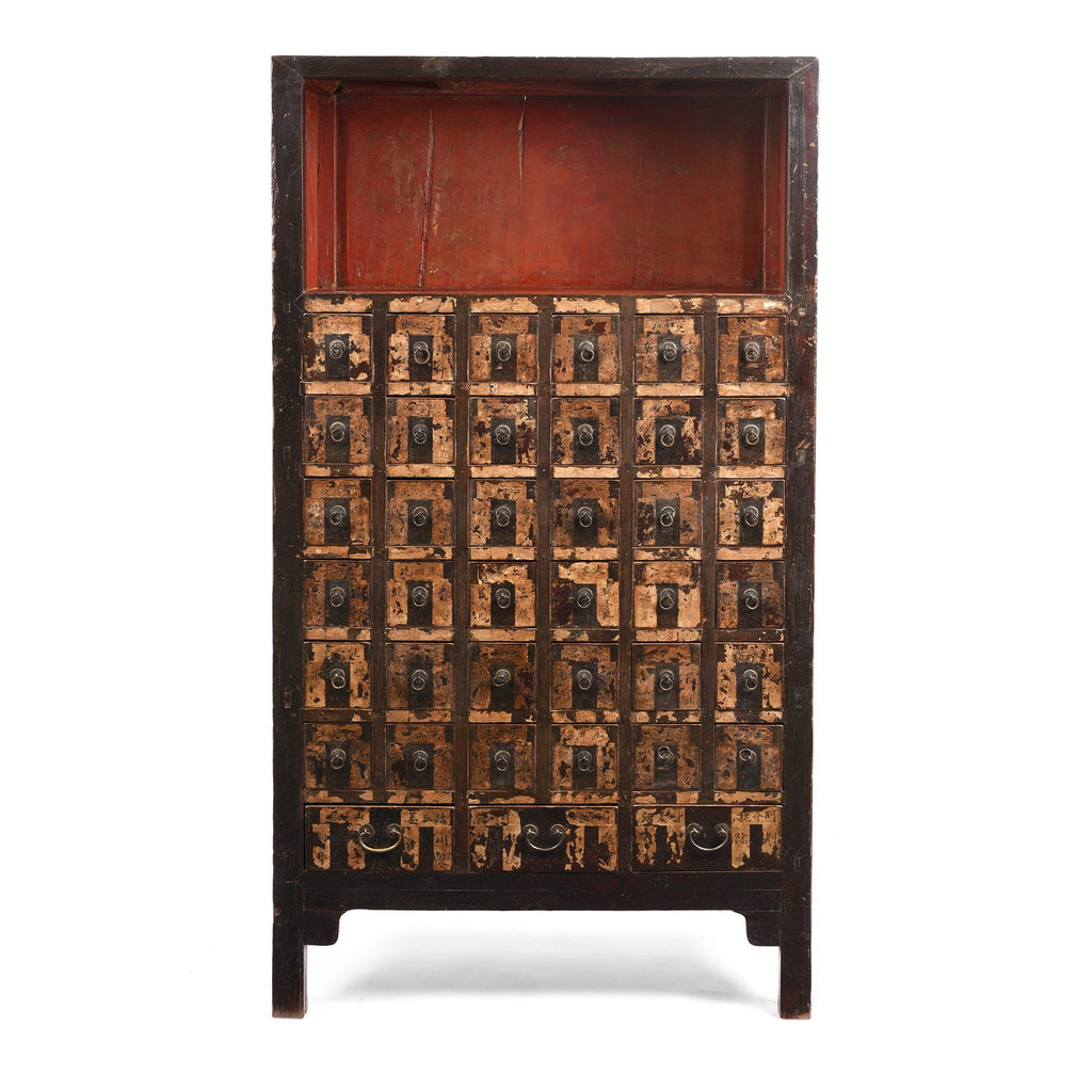 Lacquer Apothecary Chest From Shanxi - 19thC