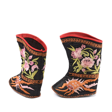 Embroidered Childs Boots from North China - Ca 50 yrs old
