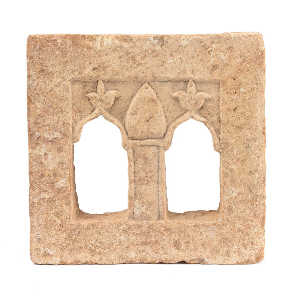 2 Way Stone Lamp Niche From Jaisalmer- 19thC
