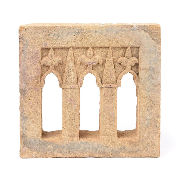 3 Way Stone Lamp Niche From Jaisalmer- 19thC