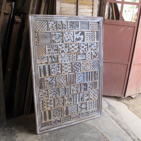 Decorative Wall Panel Made from Old Textile Printing blocks