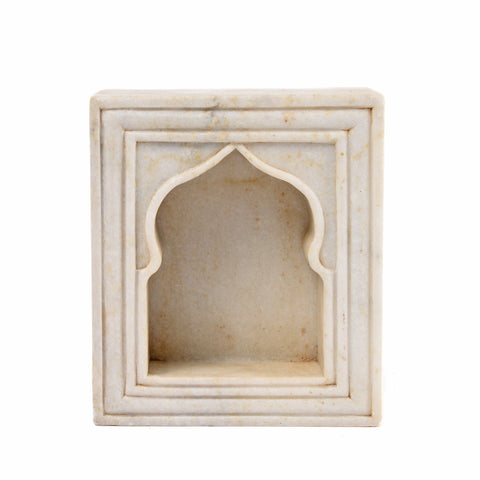 Marble Lamp Niche (Single) - Mughal Style