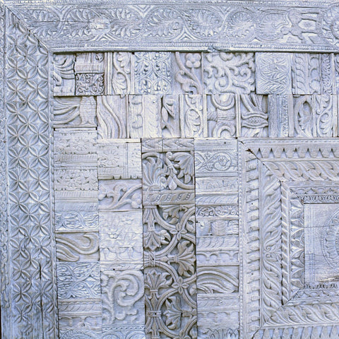 Panel Made From Old Teak Printing Blocks