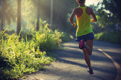 Jogging is a great way to deal with frustration and think about how to solve your stressful problems.