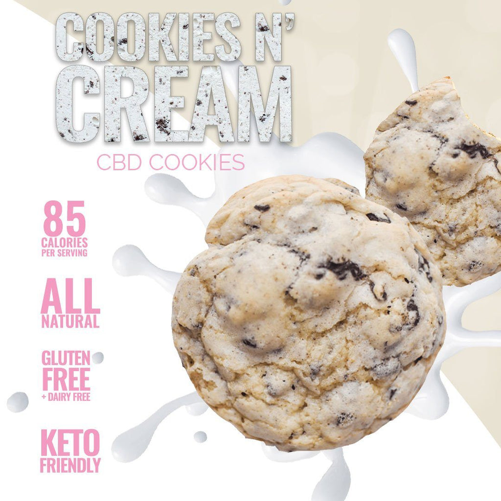 Cookies And Cream CBD Cookies - Sugar & Kush CBD Oil Products