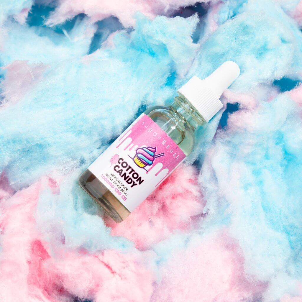 Cotton Candy Oil Drop - Sugar & Kush CBD Oil Products