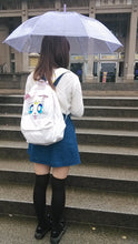 Load image into Gallery viewer, Kawaii Embroided Sailormoon White Luna Cat Backpacks