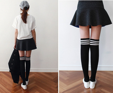 Load image into Gallery viewer, Harajuku Three Stripped Knee Socks
