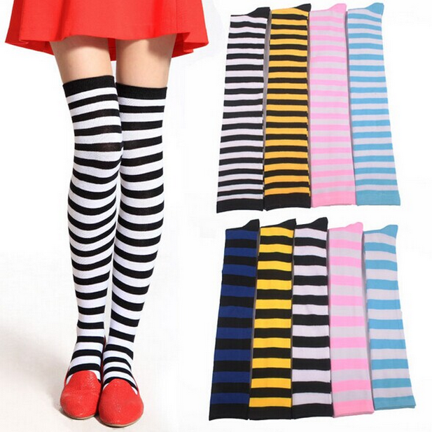 Fashion Stripped Knee Socks