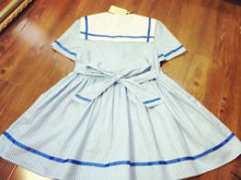 Load image into Gallery viewer, Harajuku Sweet Stripped Big Bow Sailor Suit Dress