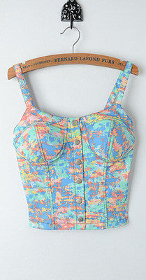 Sexy Padded Bustier Custom Fitted Crop Top Women Tank Top