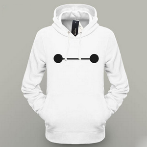 Fashion Big Hero 6 Baymax Hoodie White Men Hoodie Lover's Clothes