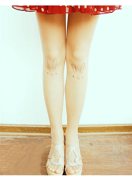 Emoticons Tattoo Nude Stockings Socks