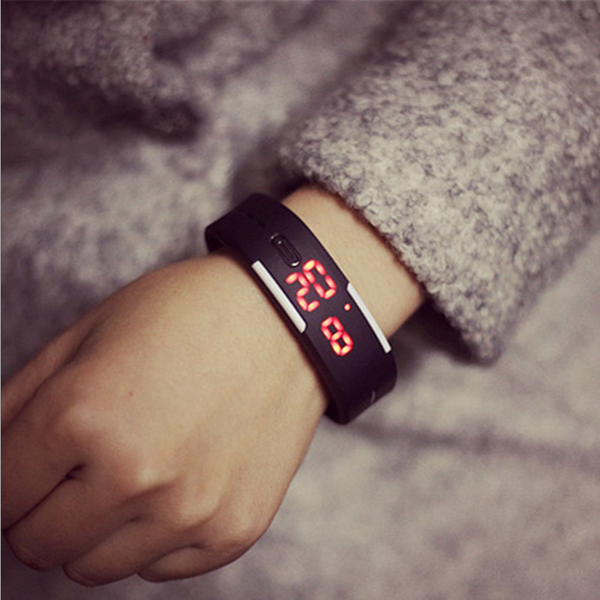 Harajuku LED Touch Screen Digital Watch Jelly Silicon Bracelet Sports Wrist Watch fashion Women Men Watch