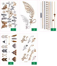 Load image into Gallery viewer, Fashion Sexy Tatoo Sticker Metal Golds Tattoos Paste