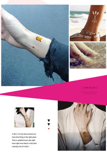 Fashion Sexy Tatoo Sticker Metal Golds Tattoos Paste