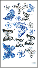 Load image into Gallery viewer, Harajuku Cat/Rose/Crown/Butterflies/Hexagram Waterproof Tattoos Sticker