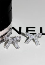 Load image into Gallery viewer, Luxurious Zicron Bow Stud Earrings